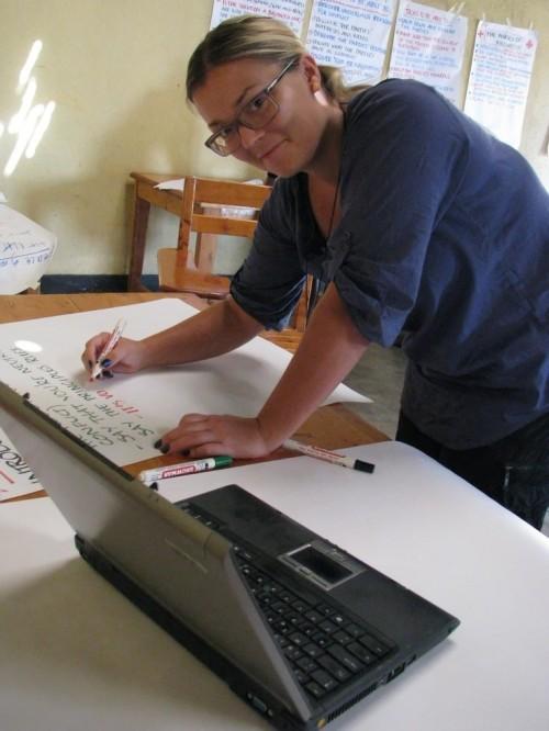Sigri, som overraskande nok har finare handskrift enn meg, skriv programmet for dagen.